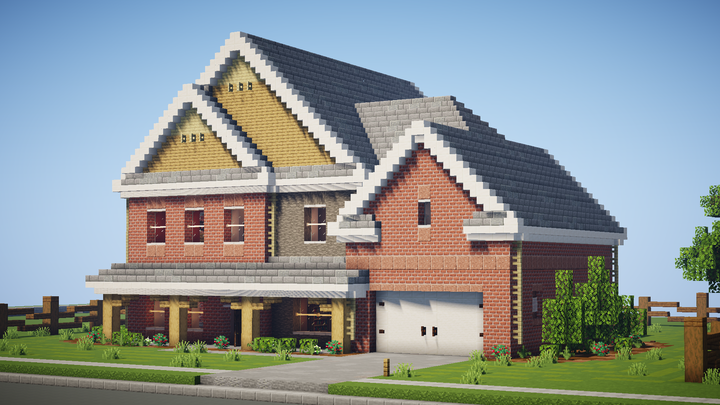 Popular Server Project : Realistic North American Suburban House