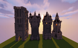 tower collection (exterior) Minecraft Map & Project