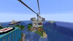 Some Car cable station Minecraft Map & Project