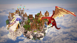 Skyblock Fantasy medieval Minecraft Map & Project
