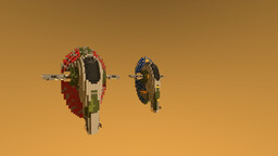 "Modified prototype Firespray-31-class ""Slave I"" 2:1 Minecraft Map & Project"