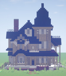 Light Victorian Style House Minecraft Map & Project