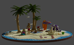 Summer Beach Vacation Minecraft Map & Project