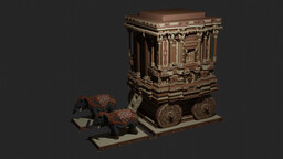 Stone Chariot - Kingdom of Vijayanagar - Hampi Minecraft Map & Project