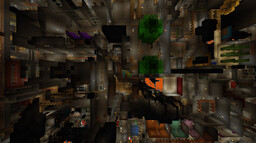 Shaftville - a Mineshaft City Minecraft Map & Project