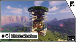 Modern Treehouse (EPIC!) Minecraft Map & Project