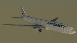 F'n'A Gaming Boeing 777-300ER Air France Minecraft Map & Project