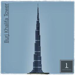 Burj Khalifa, Dubai UAE (Full Exterior) Minecraft Map & Project