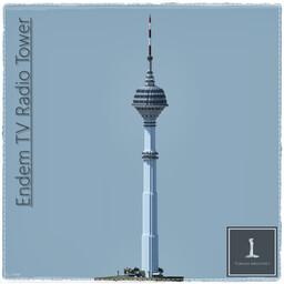 Endem TV Radio Tower, Istanbul Turkey (Full Interior) Minecraft Map & Project