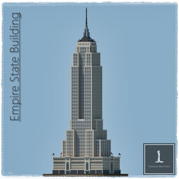 Empire State Building, New York USA Minecraft Map & Project
