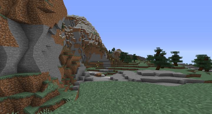 Warped cliff