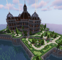 Up garden Palace Minecraft Map & Project