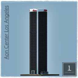 Aon Center, Los Angeles USA Minecraft Map & Project
