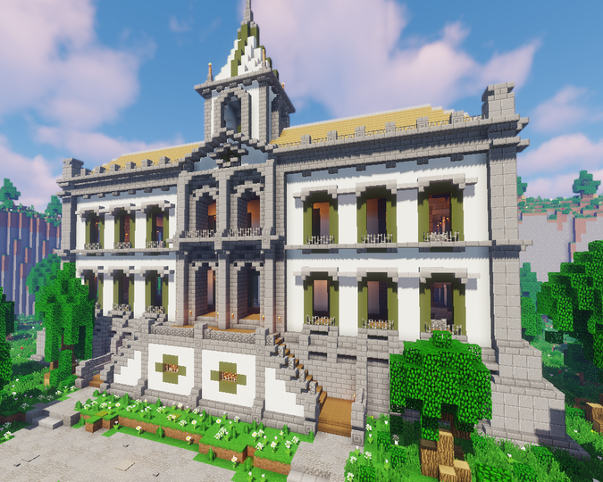 Portuguese Colonial Palace And Village Minecraft Map