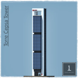 Torre Cepsa Tower, Madrid Spain Minecraft Map & Project