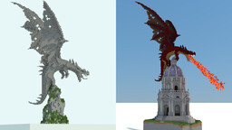 Dragon & Church Minecraft Map & Project