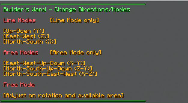 change modes