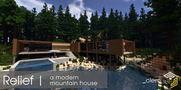 Relief | A Modern Mountain House Minecraft Map & Project