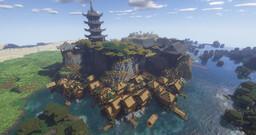 Village japonais / Japanese village Minecraft Map & Project