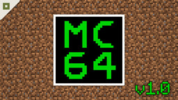 MC64 v1.1.2 [working virtual computer in vanilla Minecraft] Minecraft Map & Project