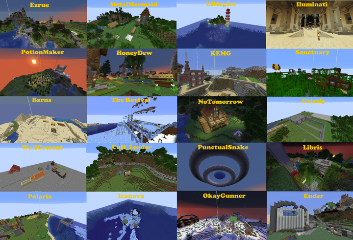 MrChickenRibs on the server, made this collage of the builds seen around Season 2!