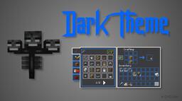 Dark Theme 1.6 + (Dark Gray and Blue look) Minecraft Texture Pack