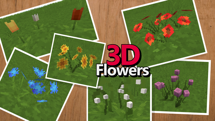 Almost every flower has a 3D model.