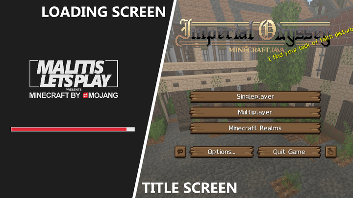 The title and loading screen in Imperial Odyssey.