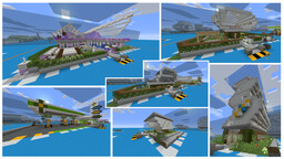 Modern City Buildings - Nightclub, Petrol Station, Apartment Complex + 3 Homes Minecraft Map & Project