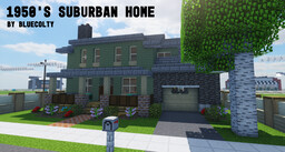 1950's Suburban 2 Story Home - Greenfield Project Minecraft Map & Project