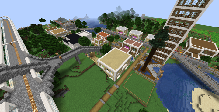 A view of the area near spawn.