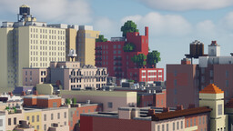 West 80th Street - NYC Recreated (1:1 scale) Minecraft Map & Project