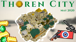 City of Thoren   Lore + Interrior   NEW Expansion   Ancient Desert City   7+ Years to Build ! Minecraft Map & Project