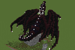 Nether and obsidian dragon perched on mountain Minecraft Map & Project
