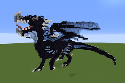 Large Blue Obsidian Dragon [Downloadable] Minecraft Map & Project
