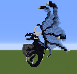 Small Blue floating dragon Minecraft Map & Project