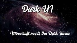 Dark Theme Minecraft Texture Pack