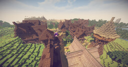 Rustic, Medieval Town Minecraft Map & Project