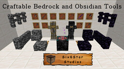 Craftable Bedrock & Obsidian Tools and armors (forge 1.14.4) Minecraft Mod