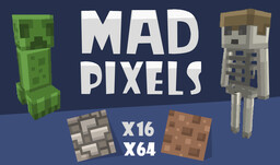 Mad Pixels for 1.15  [ x16/x64 ] Minecraft Texture Pack