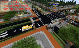 Street intersection - traffic lights Minecraft Map & Project