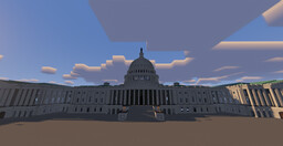 United States Capitol Building, Washington D.C. Minecraft Map & Project