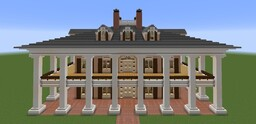 Oak Alley Plantation House Minecraft Map & Project