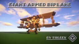 (1.12.2) The Giant Armed Biplane Minecraft Map & Project