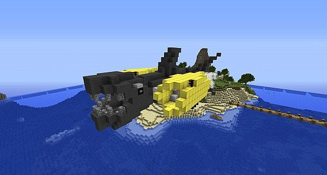 how to make an easy shark in minecraft