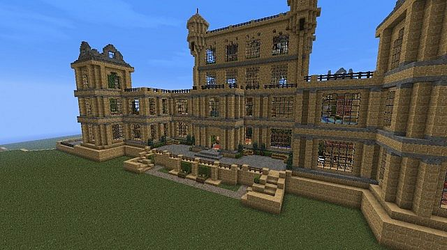 Wollaton Hall Bruce Wayne Batman Manor Minecraft Project
