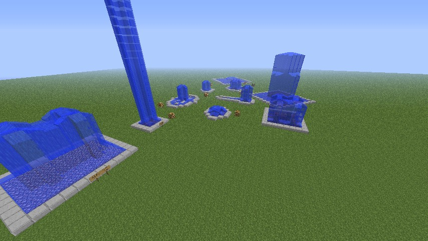minecraft how to build a fountain