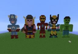 Marvel superhero Pixel art Minecraft Map & Project