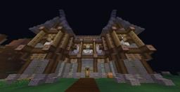 Medieval house in wood, stone and wool Minecraft Project