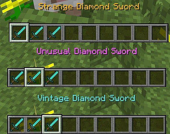 tf2 stranges strange unusual and vintage items minecraft mod